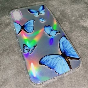 Butterfly Print iPhone Case w/ Holographic Insert